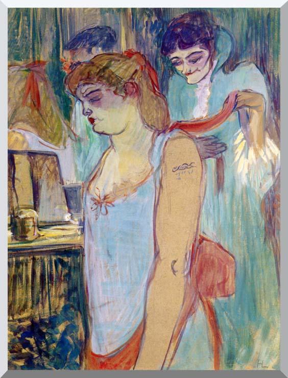 Henri de Toulouse Lautrec The Tattoed Woman or the Toilette stretched canvas art print