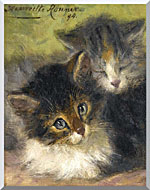 Henriette Ronner Knip Painting Of Two Kittens stretched canvas art