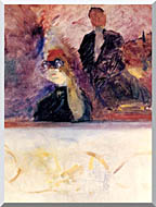 Henri De Toulouse Lautrec Theater Box With The Gilded Mask stretched canvas art