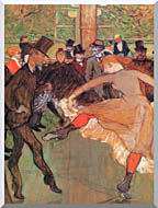 Henri De Toulouse Lautrec Training Of New Girls By Valentin The Boneless stretched canvas art