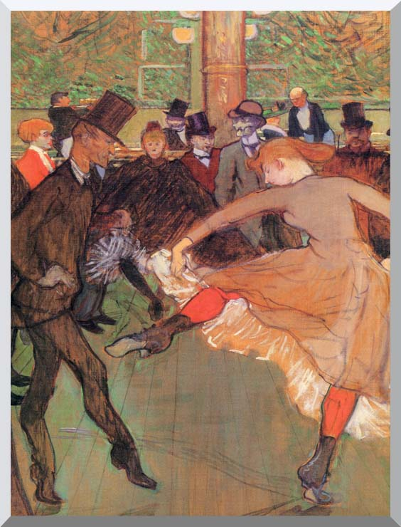 Henri de Toulouse Lautrec Training of New Girls by Valentin the Boneless stretched canvas art print