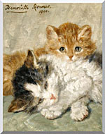 Henriette Ronner Knip Sleepy Kittens stretched canvas art