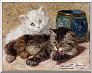 Henriette Ronner Knip Two Cute Kittens stretched canvas art