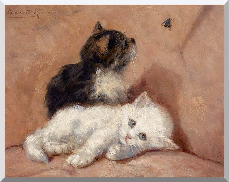 Henriette Ronner Knip Two Kittens stretched canvas art print