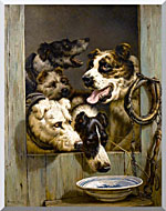 Henriette Ronner Knip Waiting For A Meal stretched canvas art