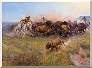 Charles Russell Buffalo Hunt No 39 stretched canvas art