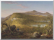 Thomas Cole A View Of The Two Lakes And Mountain House Catskill Mountains Morning stretched canvas art