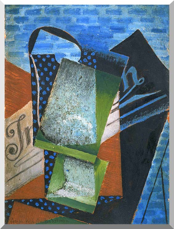 Juan Gris Abstraction stretched canvas art print