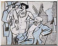 Juan Gris Aux Courses Des Longchamps stretched canvas art