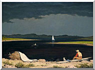 Martin Johnson Heade Approaching Thunder Storm stretched canvas art