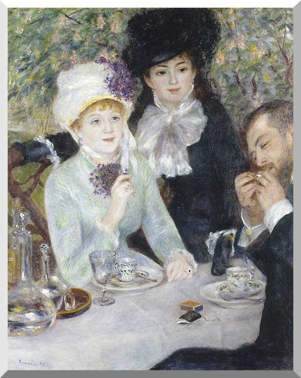 Pierre Auguste Renoir After the Luncheon stretched canvas art print