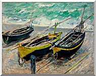 Claude Monet Three Fishing Boats stretched canvas art