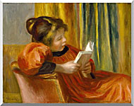 Pierre Auguste Renoir Girl Reading stretched canvas art