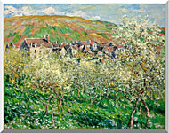 Claude Monet Flowering Plum Trees stretched canvas art