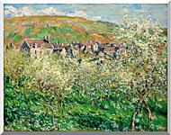 Claude Monet Flowering Plum Trees stretched canvas art