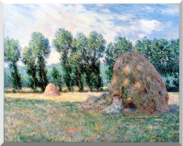 Claude Monet Haystacks stretched canvas art print