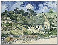 Vincent Van Gogh Thatched Cottages At Cordeville stretched canvas art