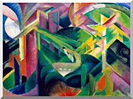 Franz Marc Deer In A Monastery Garden stretched canvas art