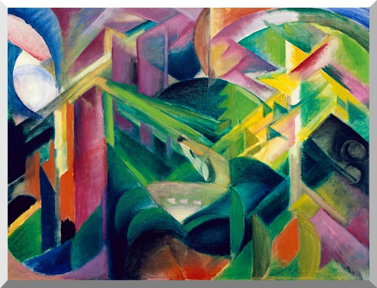 Franz Marc Deer in a Monastery Garden stretched canvas art print