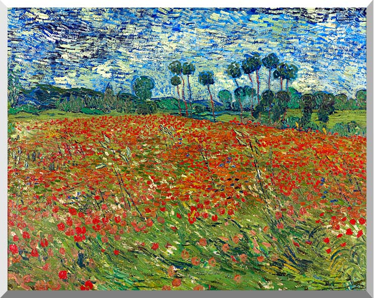Vincent van Gogh A Poppy Field stretched canvas art print