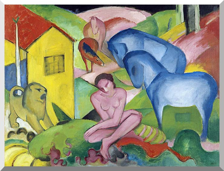Franz Marc The Dream stretched canvas art print