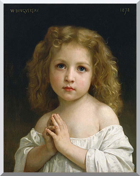 William Bouguereau Little Girl stretched canvas art print