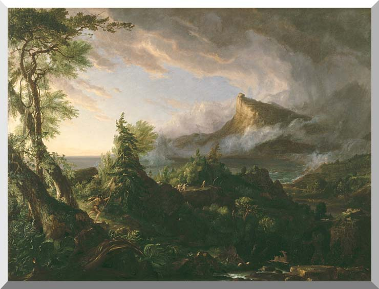 Thomas Cole The Course of Empire The Savage State stretched canvas art print