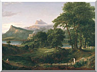 Thomas Cole The Course Of Empire The Arcadian Or Pastoral State stretched canvas art