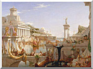 Thomas Cole The Course Of Empire The Consummation Of Empire stretched canvas art