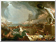 Thomas Cole The Course Of Empire Destruction stretched canvas art