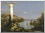 Thomas Cole The Course Of Empire Desolation stretched canvas art