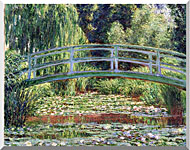 Claude Monet The Japanese Footbridge And The Water Lily Pool Giverny stretched canvas art