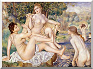 Pierre Auguste Renoir The Large Bathers stretched canvas art