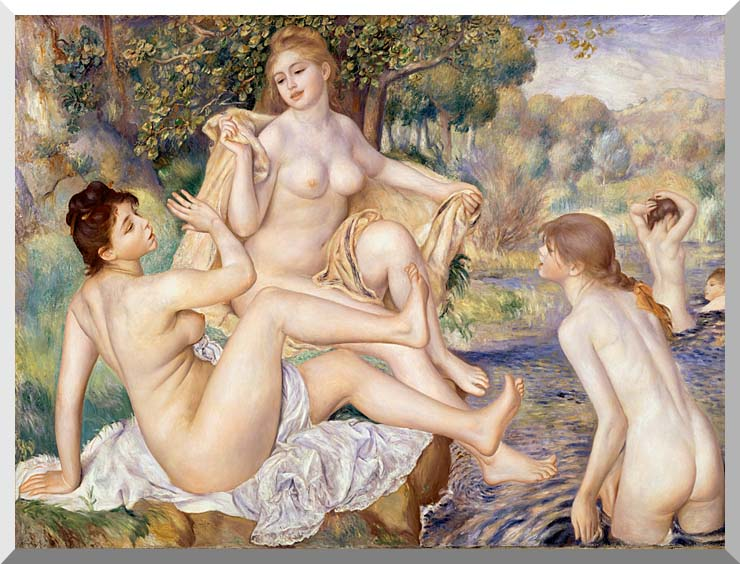 Pierre Auguste Renoir The Large Bathers stretched canvas art print