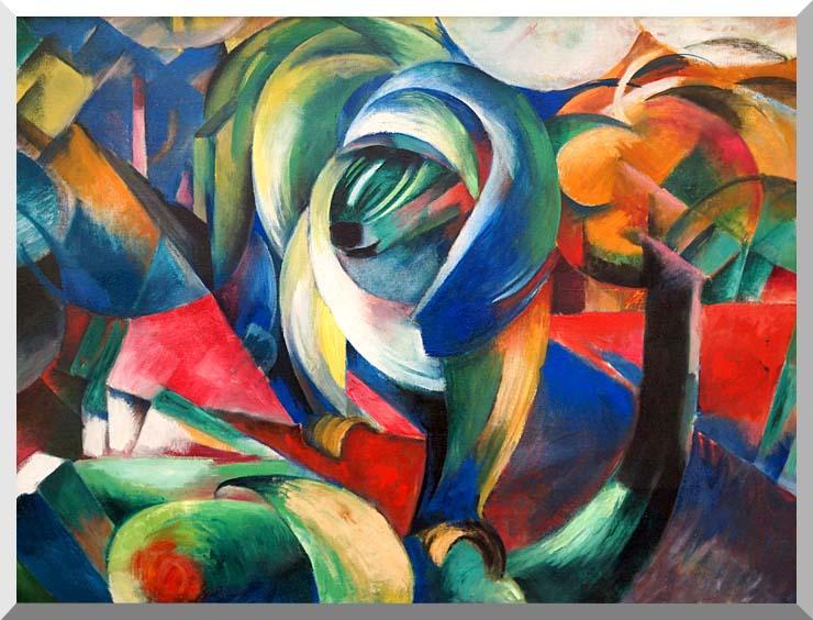 Franz Marc The Mandrill stretched canvas art print
