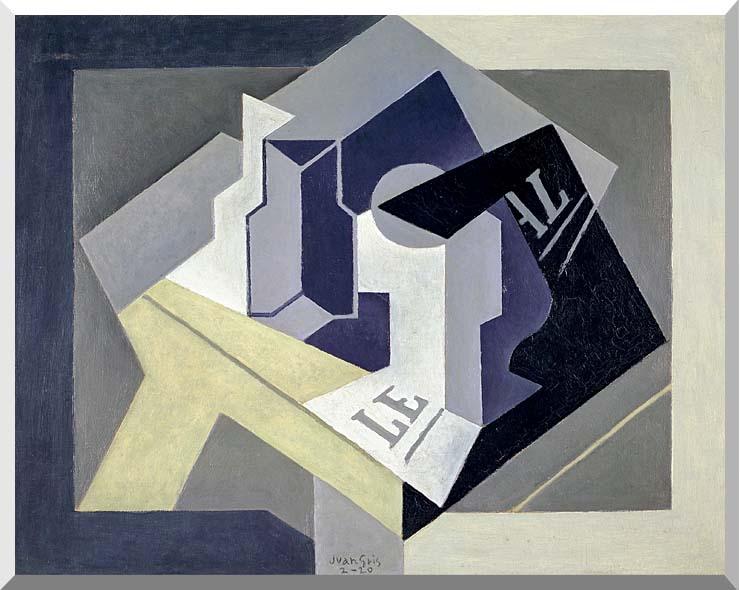 Juan Gris Frutero y Periodico stretched canvas art print