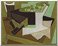 Juan Gris Grappe De Raisin Et Poire stretched canvas art