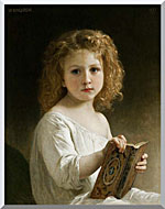 William Bouguereau The Story Book stretched canvas art