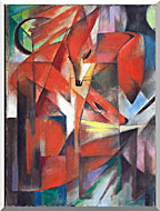 Franz Marc The Foxes stretched canvas art