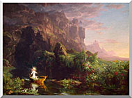 Thomas Cole Voyage Of Life Childhood 1842 stretched canvas art