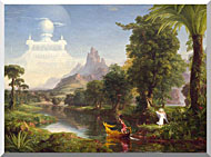 Thomas Cole Voyage Of Life Youth 1842 stretched canvas art
