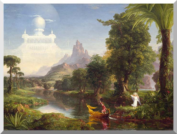 Thomas Cole Voyage of Life: Youth 1842 stretched canvas art print