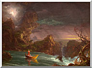 Thomas Cole Voyage Of Life Manhood 1842 stretched canvas art