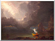 Thomas Cole Voyage Of Life Old Age 1842 stretched canvas art