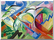 Franz Marc The Sheep stretched canvas art