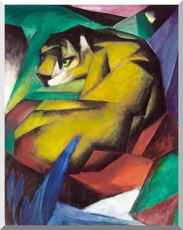 Franz Marc The Tiger stretched canvas art print