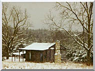 Ray Porter Cabin In The Woods stretched canvas art
