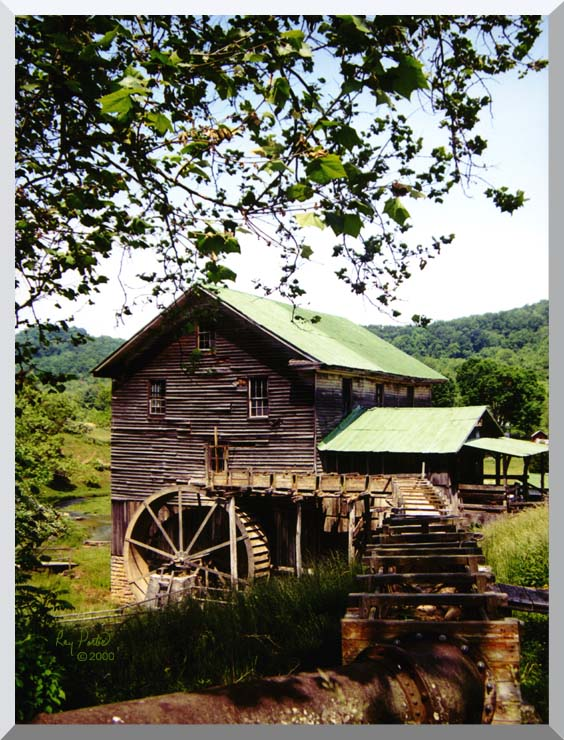 Ray Porter Old Mill stretched canvas art print