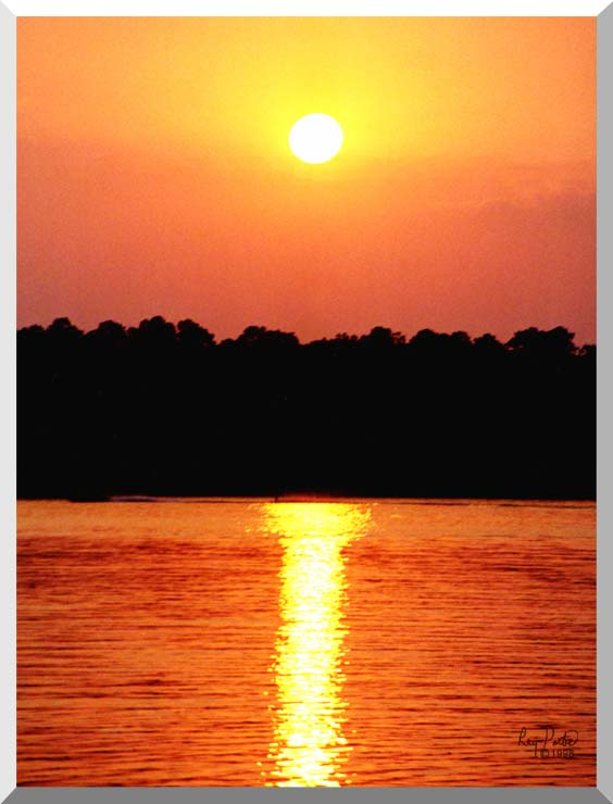 Ray Porter Red Sky at Night stretched canvas art print