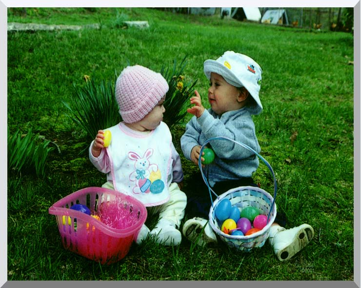 Ray Porter Our First Easter stretched canvas art print